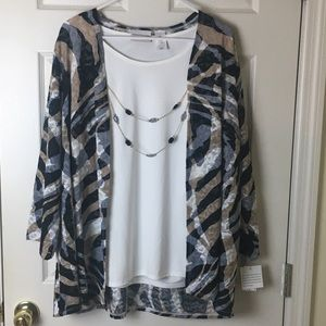 Alfred Dunner 2pc Top